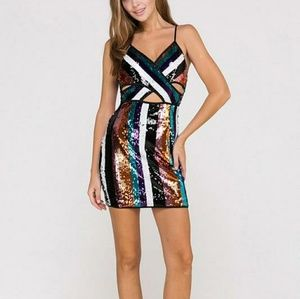 Sequin spaghetti strapped dress